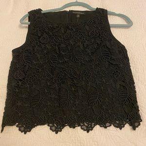 NWT Banana Republic black lace top size smal